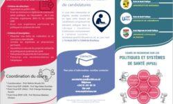 Cours de recherche sur les politiques et systèmes de santé (RPSS)